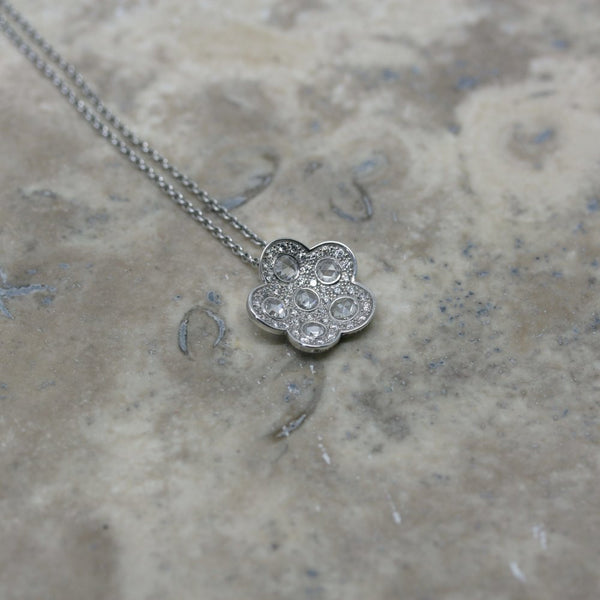 Soley 18ct white gold and diamond pendant