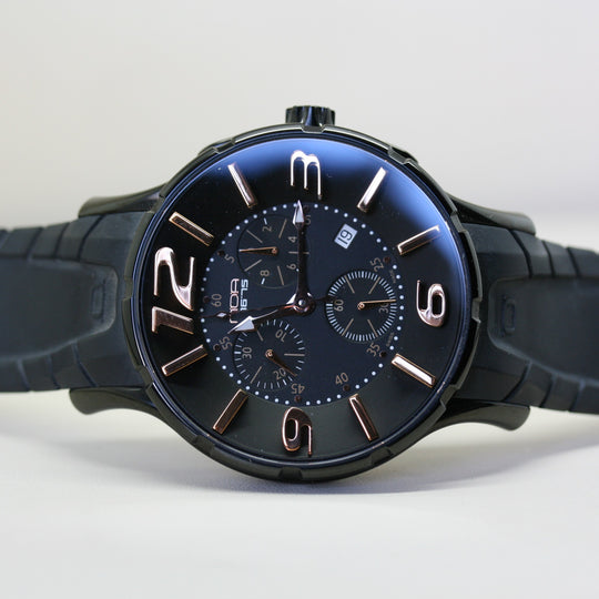 NOA quartz chronograph wristwatch with rubber strap