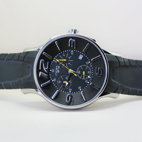 NOA Automatic Wristwatch with Black Rubber strap