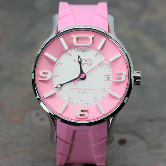 NOA pink Wristwatch with rubber strap