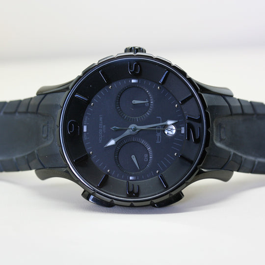 NOA Automatic Black Wristwatch with Rubber strap