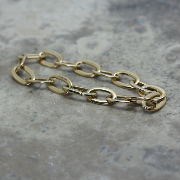 S & Co 18ct Yellow Gold Oval Link Bracelet