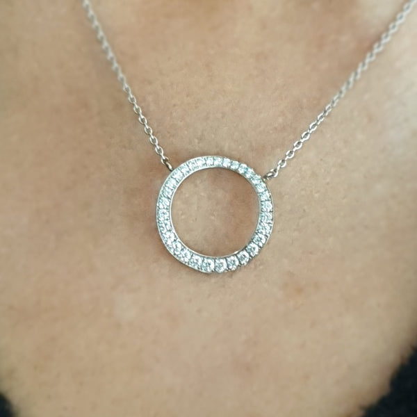 SOLEY 18ct white gold & Diamond 'Circles' Necklace