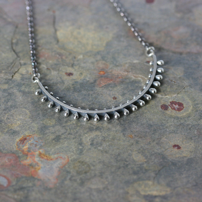 SASHA Silver 'Ultra' Pinned Necklace