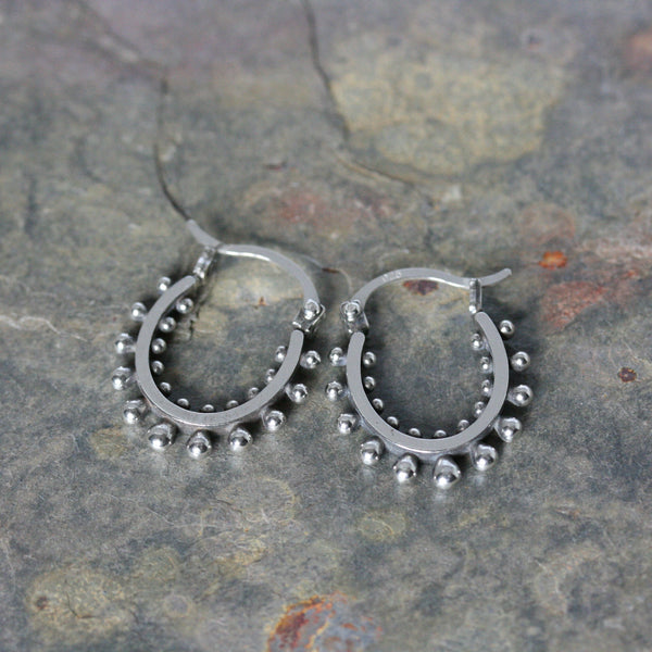 SASHA Silver 'Ultra' Hoop Earrings