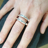 QUINN Sterling Silver 'Double' Ring