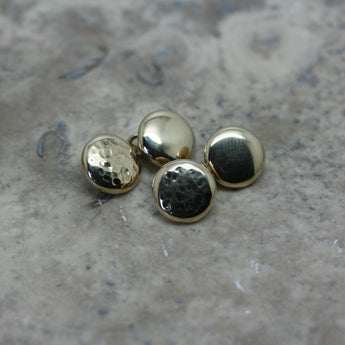 YULAN 9ct Yellow Gold 'Button' Cufflinks