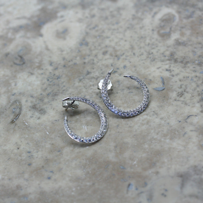 RIVOIR 18ct White Gold & Diamond 'Fierce' Earrings