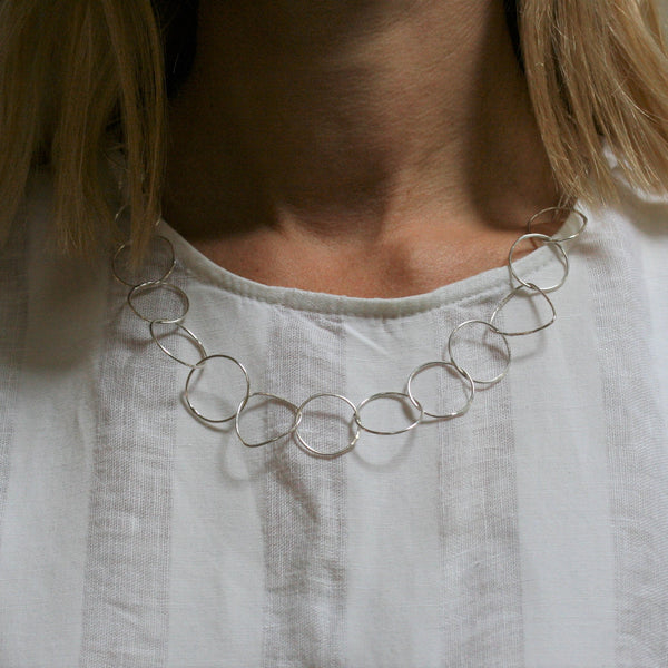 CHARLES ROBERTSON Silver 'Freeform' Necklace