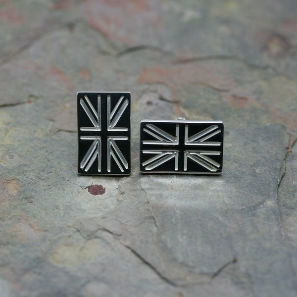 O F Design Silver Union Flag Cufflinks