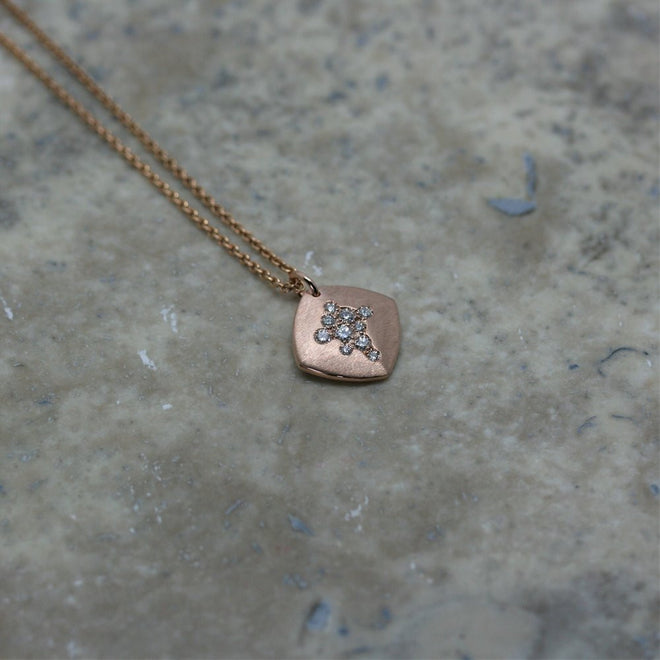 FIORE 18ct Rose Gold and Diamond 'Charm' Pendant