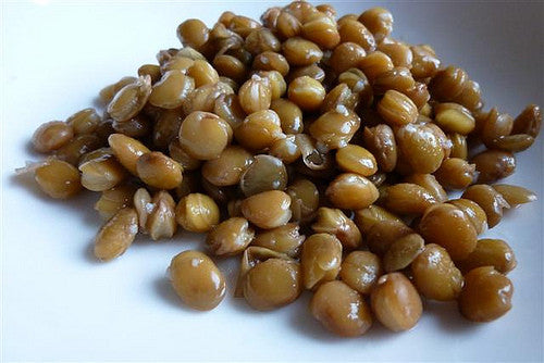 Lentils, brown - tinned (400g)