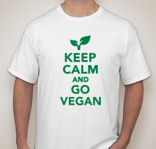 KEEP CALM & GO VEGAN T-Shirt