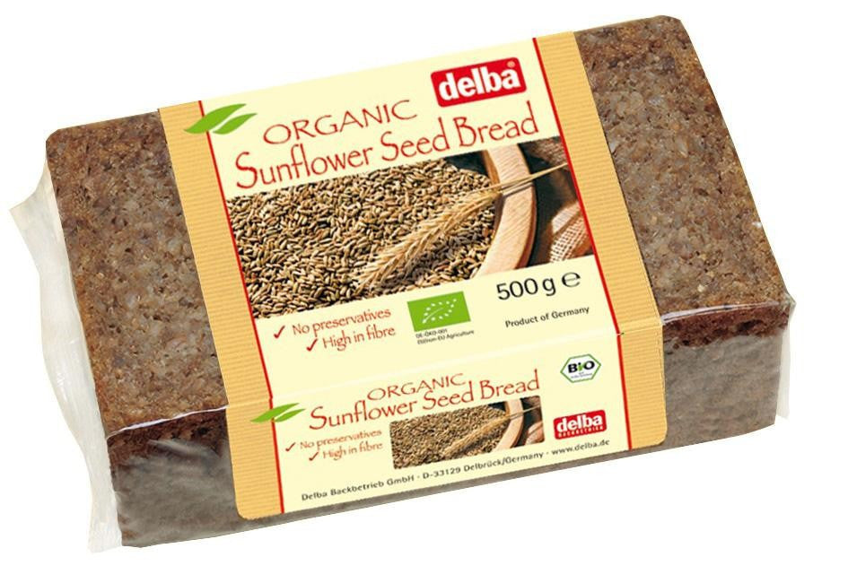 Organic Sunflower Seed Rye Bread, long life (500g)