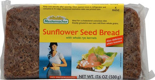 Sunflower Seed Rye Bread, long life (500g)