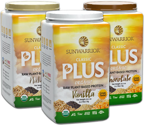 SUNWARRIOR PLUS Organic Protein (1kg)   Natural / Vanilla / Chocolate