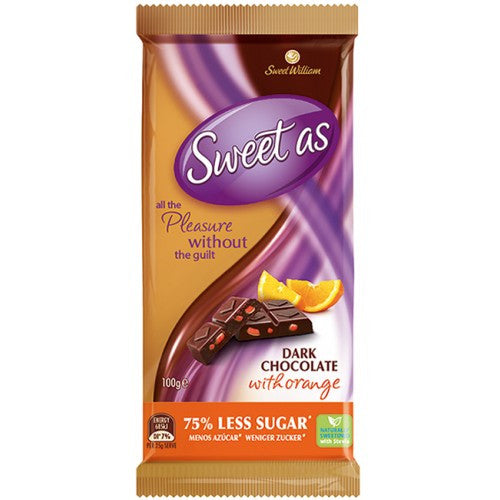 Vegan Chocolate, Sweet William - Dark Orange (100g)