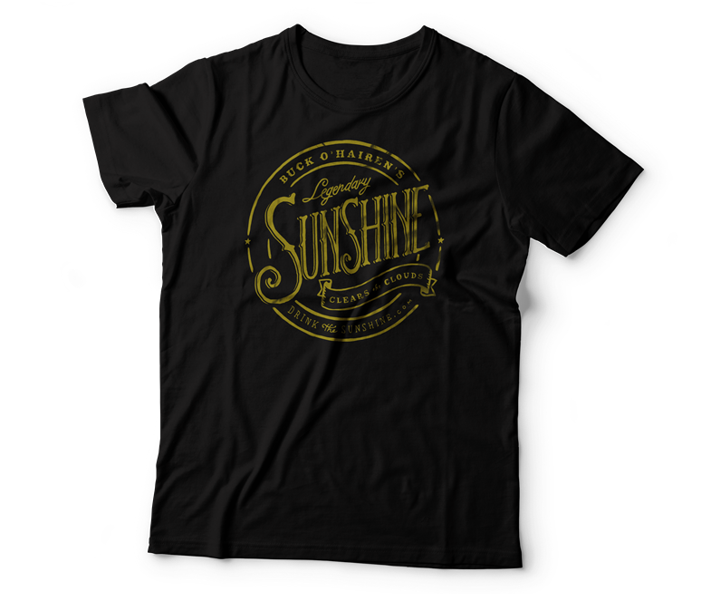 black sunshine t-shirt