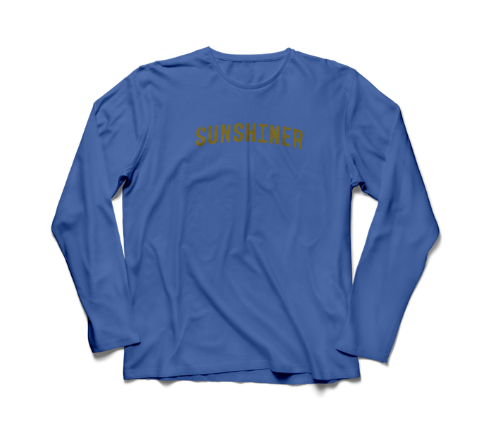 blue long sleeve sunshine shirt
