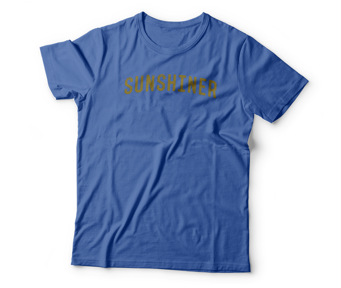 blue sunshiner t-shirt