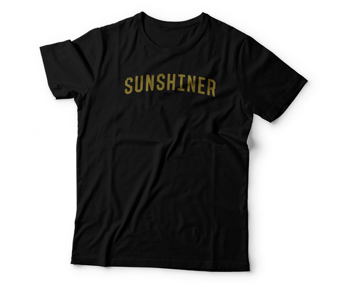 black sunshiner t-shirt