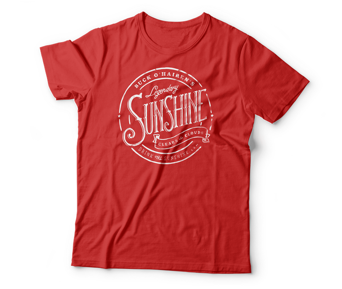 red sunshine t-shirt