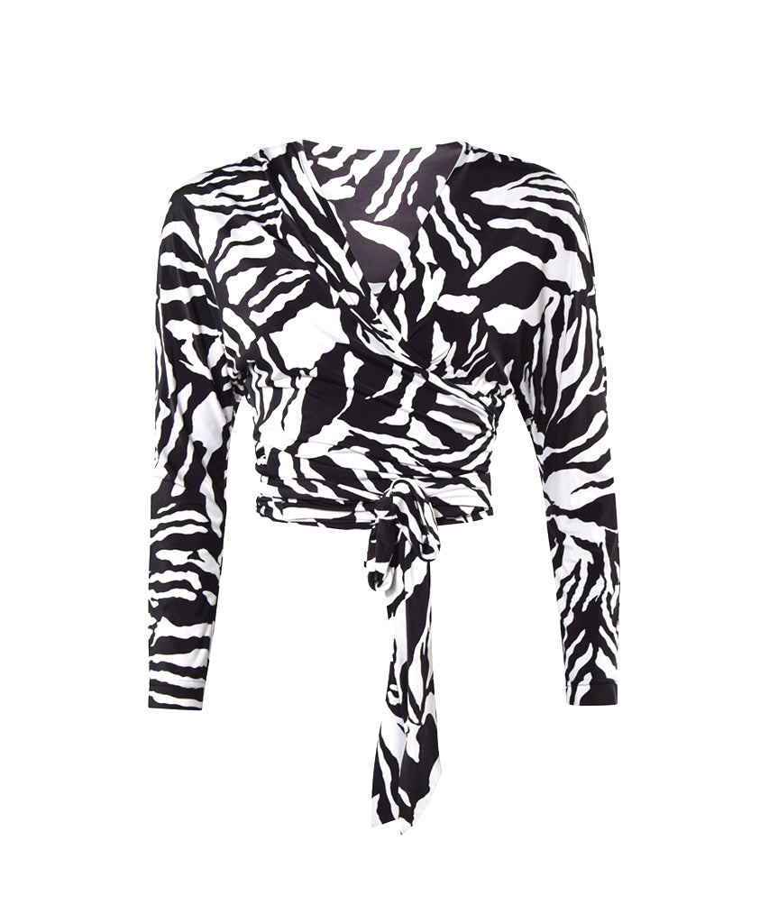 the karen top - zebra
