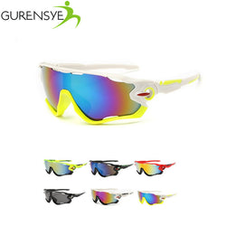GURENSYE Big Frame Colourful Lens Cycling Sunglasses