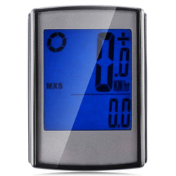 Water Resistant Bicycle Wireless Speedometer with LCD Backlight