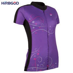 HIRBGOD Short Sleeve Cycling Jersey For Women