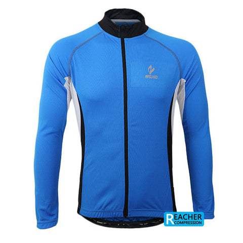 2017 ARSUXEO Long Sleeves Cycling Jersey For Men