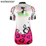 Short Sleeve Outdoor Cycling Jersey For Women