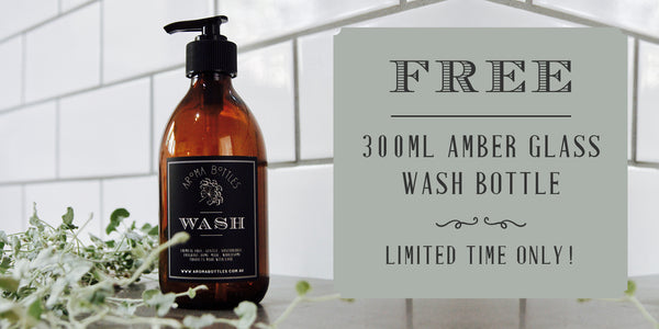 Free Aroma Bottles Amber Glass DIY Wash Bottle