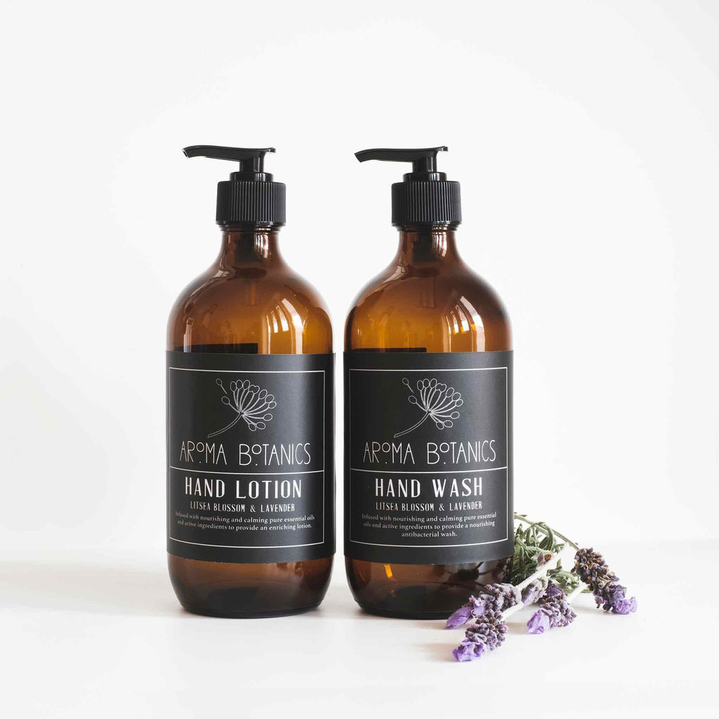 Aroma Botanics Lavender and Litsea Blossom Hand Wash and Hand Lotion Set
