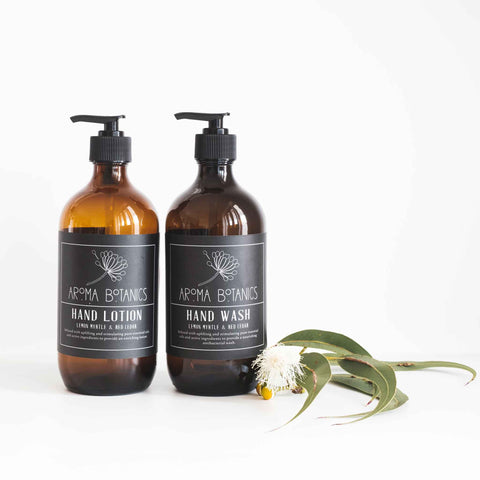 Aroma Botanics Lemon Myrtle and Red Cedar Hand Wash and Hand Lotion Set