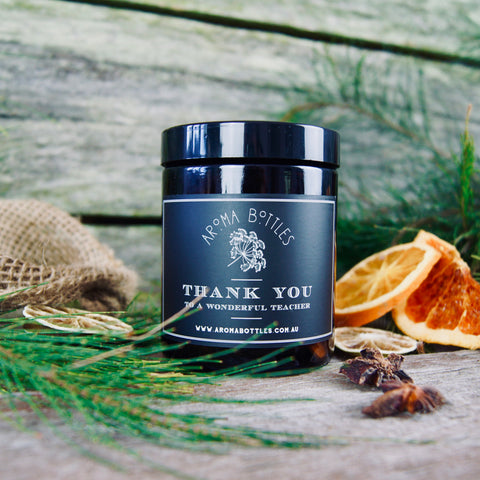 'Thank You To A Wonderful Teacher' 175ml Bespoke Labelled DIY Jar