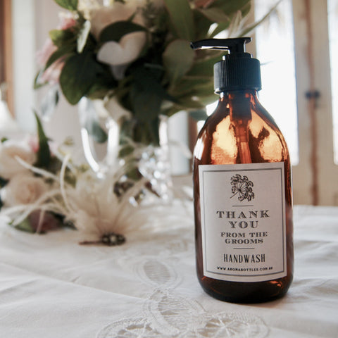Thank you from the GROOMS 300ml Hand wash Bottle with Bespoke Label