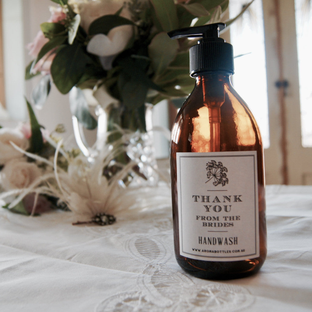 Thank you from the BRIDES 300ml Hand wash Bottle with Bespoke Label
