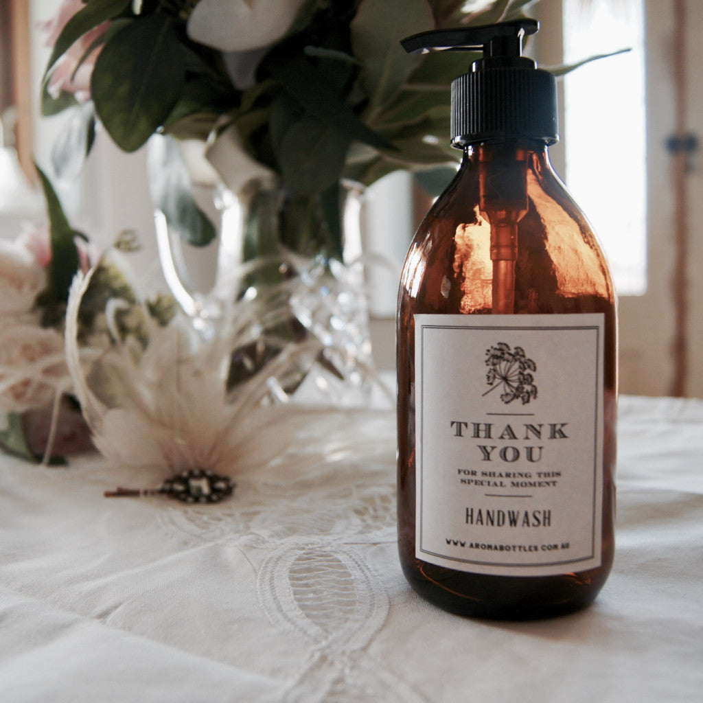 Thank you FOR SHARING THIS MOMENT 300ml Hand wash Bottle with Bespoke Label