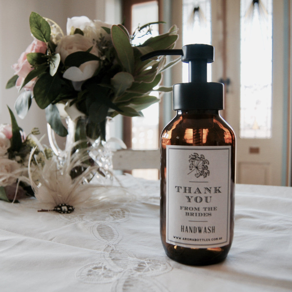 Thank you from the BRIDES 500ml Foaming Hand wash Bottle with Bespoke Label