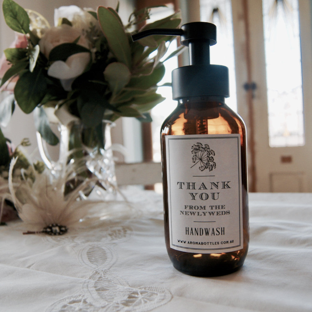 Thank you from the NEWLYWEDS 500ml Foaming Hand wash Bottle with Bespoke Label