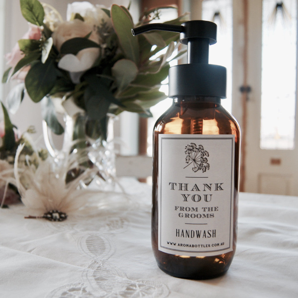 Thank you from the GROOMS 500ml Foaming Hand wash Bottle with Bespoke Label