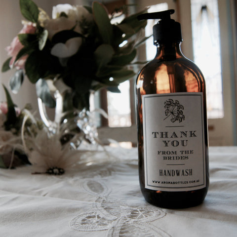 Thank you from the BRIDES 500ml Pump Hand wash Bottle with Bespoke Label