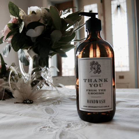 Thank you from the GROOMS 500ml Pump Hand wash Bottle with Bespoke Label