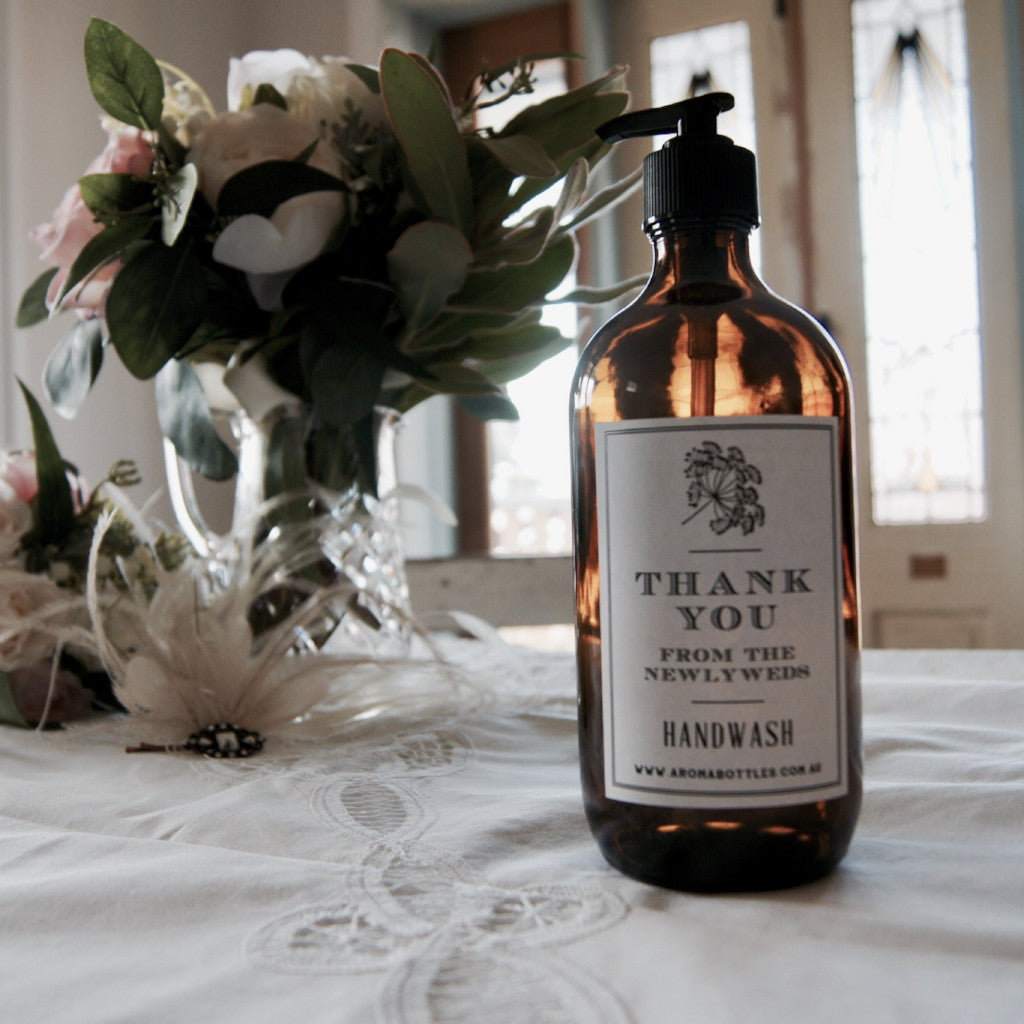Thank you from the NEWLYWEDS 500ml Pump Hand wash Bottle with Bespoke Label