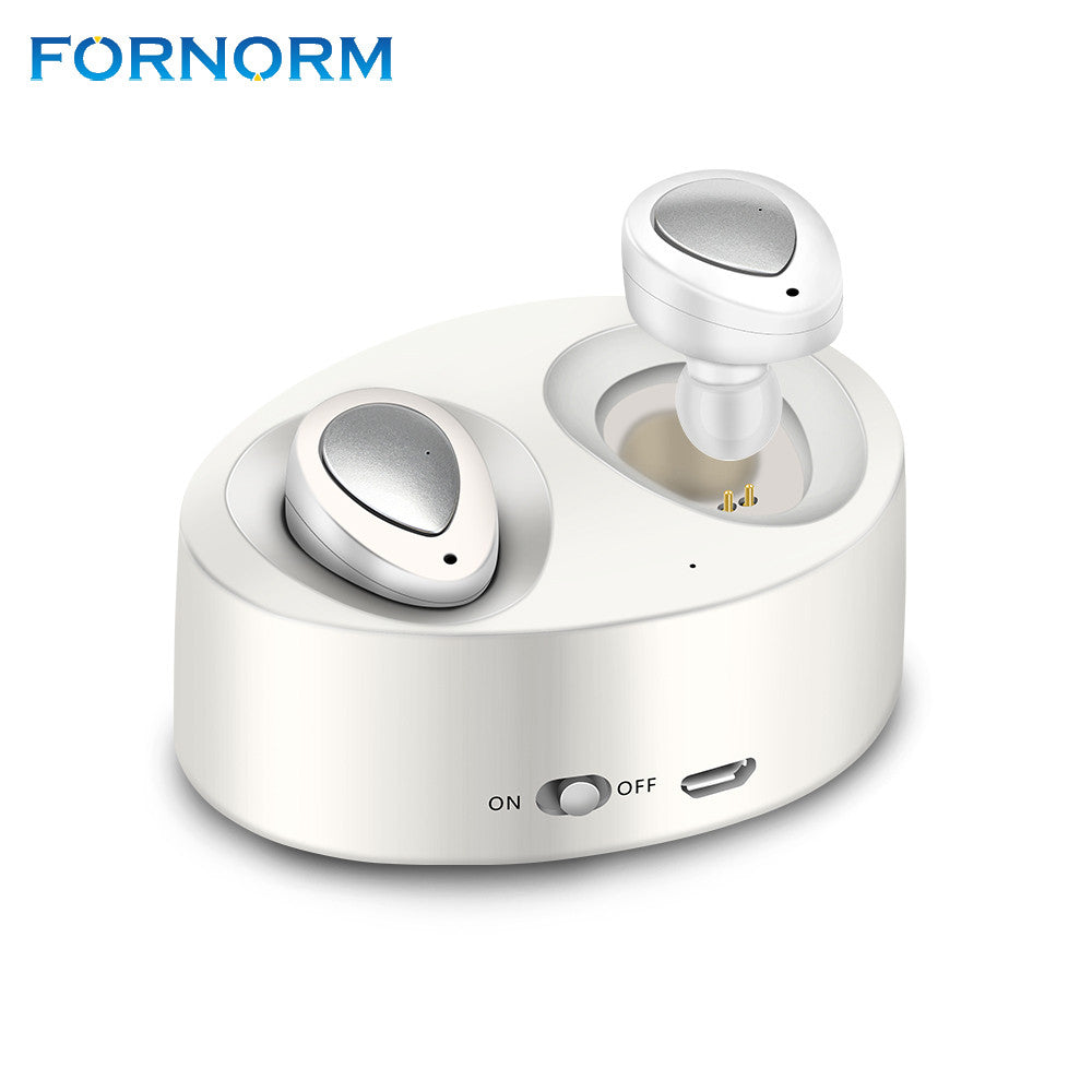 FORNORM Mini True Wireless Bluetooth Earphone Separated Twins Stereo In-Ear With Mic Rechargeable Charge Base