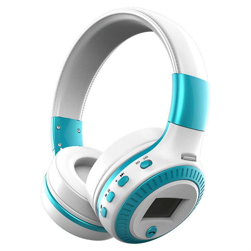 Portable Multifunction Foldable Bluetooth Wireless Card Headset Over Ear Headphones with Microphone