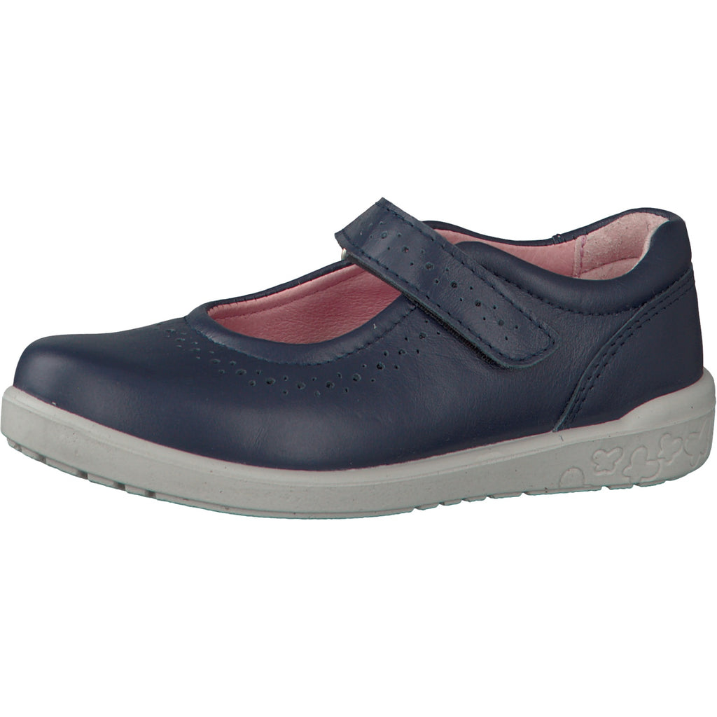 Profile of Ricosta Leila Navy Mary Jane Shoes. Cooshoo kids shoes.