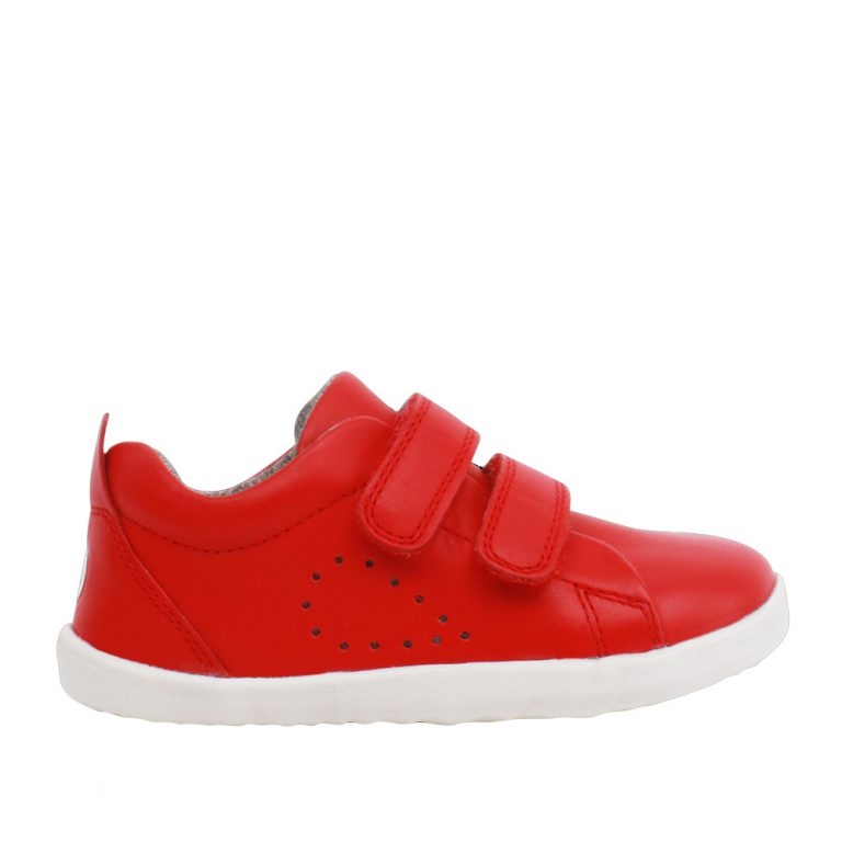 Bobux Step Up Waterproof Grass Court Red Trainer Shoes. Cooshoo children's shoes.