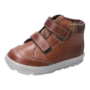 Ricosta Basti Cognac Waterproof Velcro Boots. Cooshoo children's shoes.